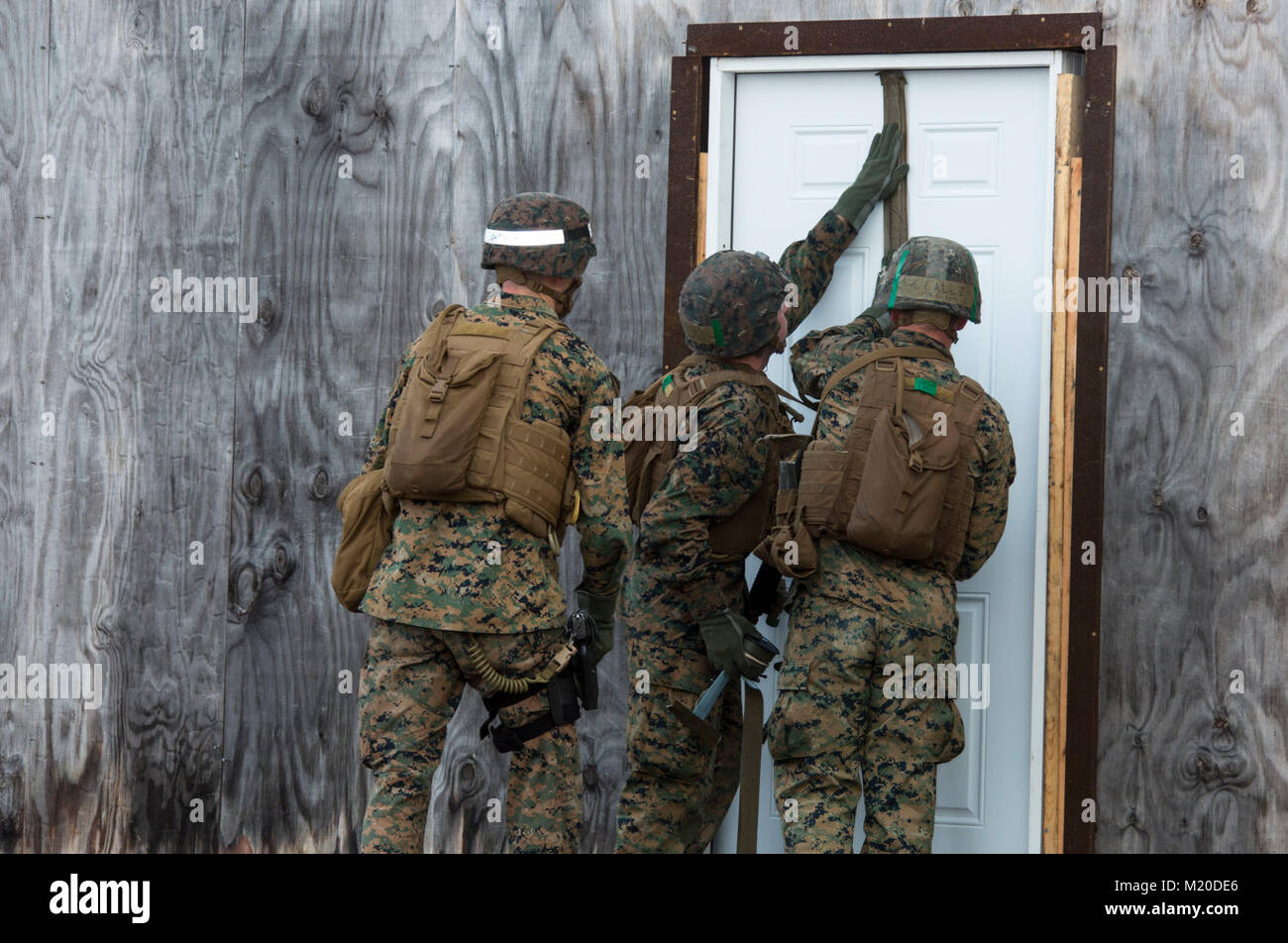 marines in an assaultman course with the infantry training