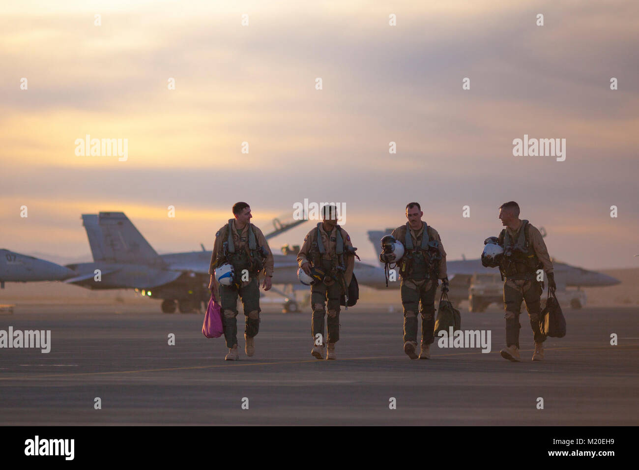 Marine pilots with Marine Fighter Attack Squadron All