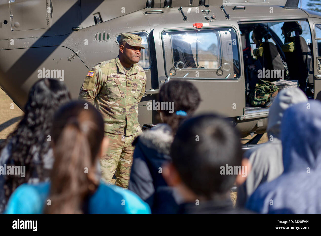 Spc  Kendell Smith, an Apachee Helicopter mechanic 449th
