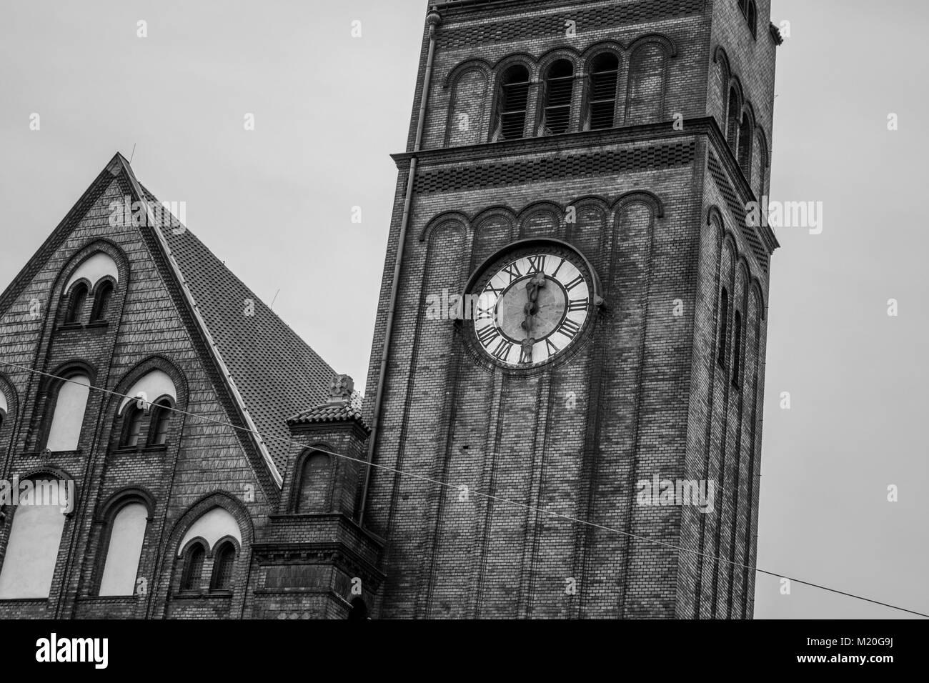 Church Clock of Ostrava - Stock Image