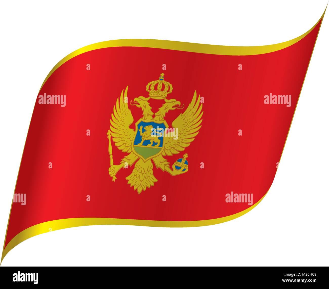 montenegro flag, vector illustration Stock Vector