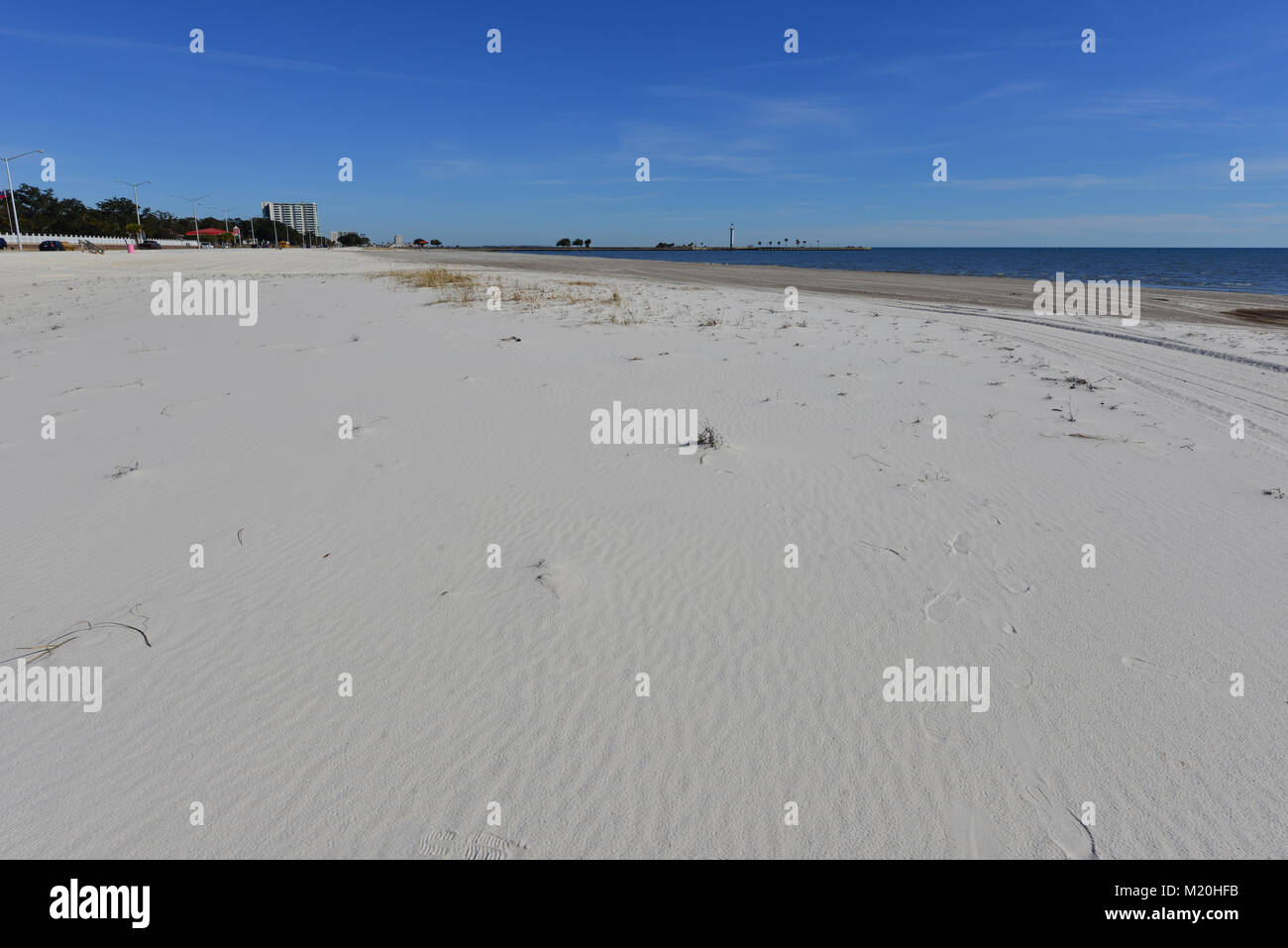 Biloxi Beach In Mississippi Stock Photo Alamy