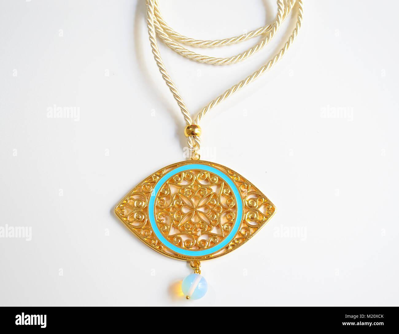 Gold byzantine necklace expensive greek evil eye jewelry stock gold byzantine necklace expensive greek evil eye jewelry aloadofball Choice Image