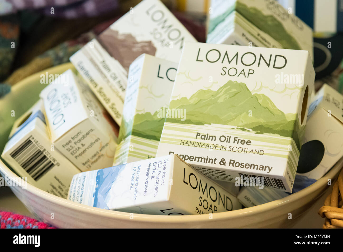 Palm Oil Free soap - Lomond Soap - handmade soap made in Scotland, UK - Stock Image