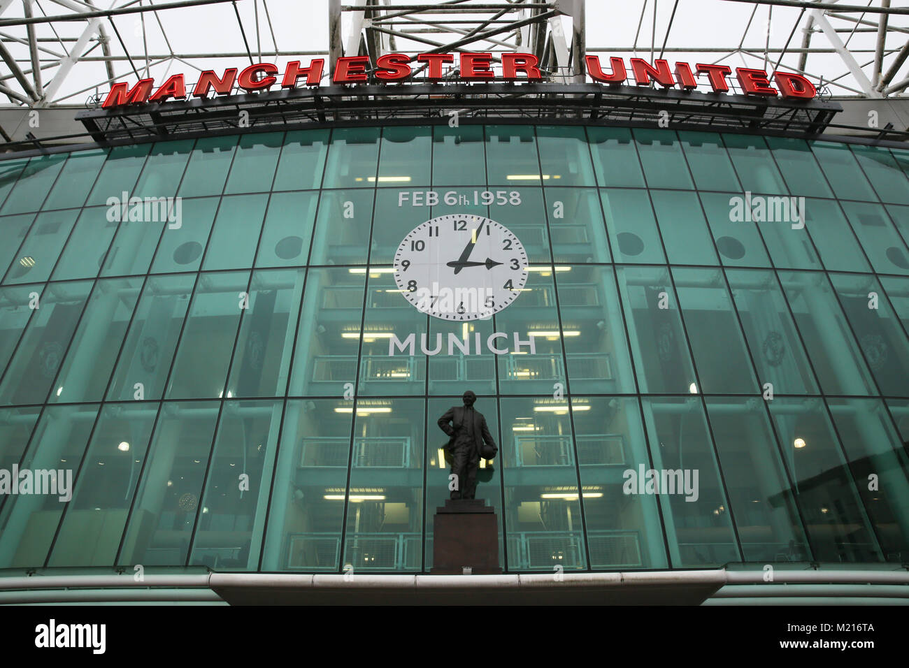 Manchester, UK, 3 Feb 2018. ,Manchester United Football Club, Old Trafford, 3rd February, 2018 (C)Barbara Cook/Alamy - Stock Image