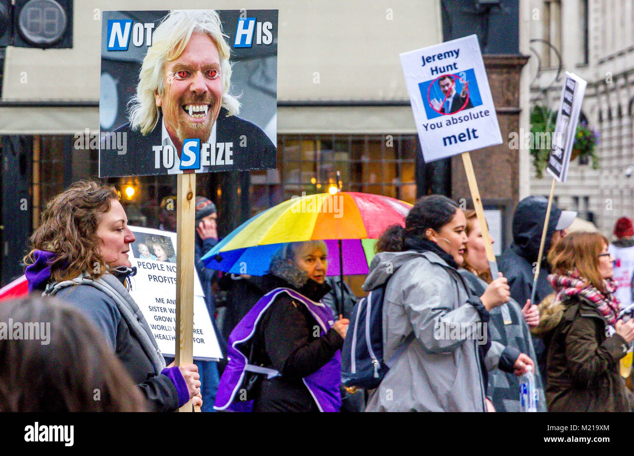 London, UK 3rd February 2018. Whitehall, London, United Kingdom. Thousands from all over the United Kingdom gather - Stock Image