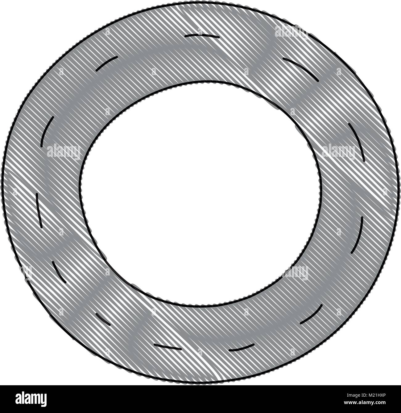 grated vehicle tire of rubber wheel design - Stock Vector