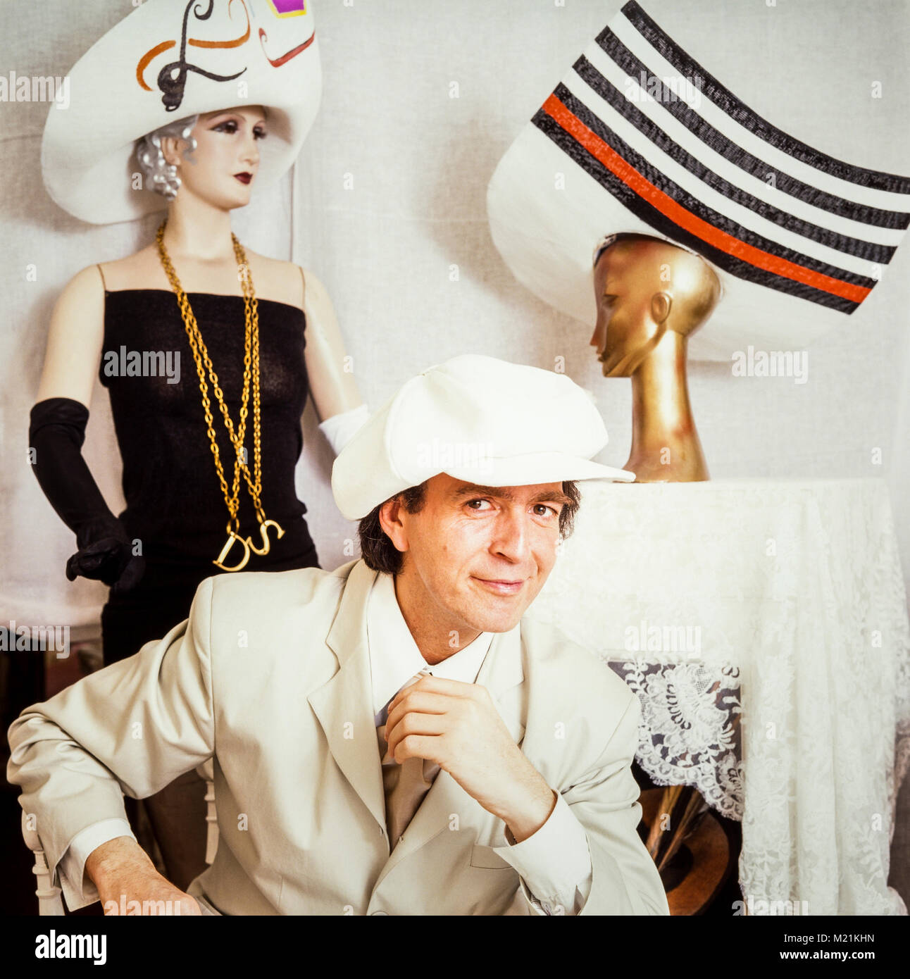 509fae04fbd5da David Shilling milliner, fashion, hat designer, synonymous with designing  extravagant hats and clothing displayed on Ladies' Day at Royal Ascot, ...