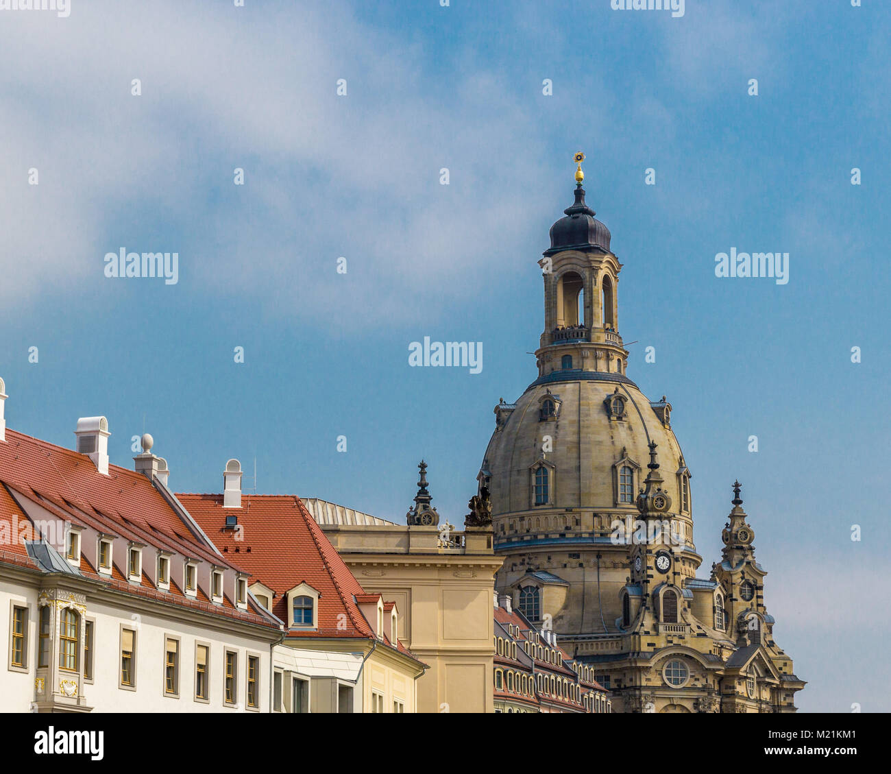 Church in Dresden Frauenkirche Sachsen Germany Daylight Stock Photo