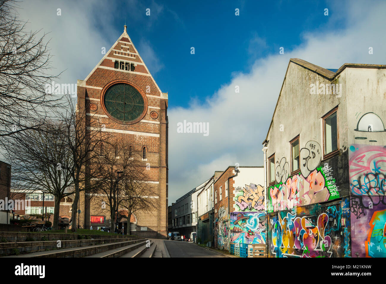 St bartholomew church in brighton city centre east sussex england stock image