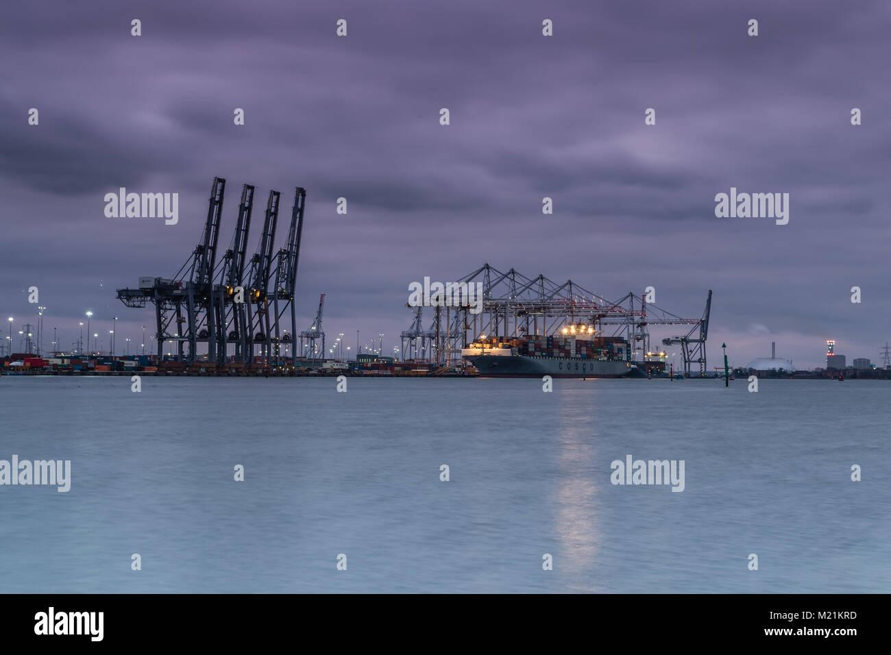 Southampton Docks - Stock Image
