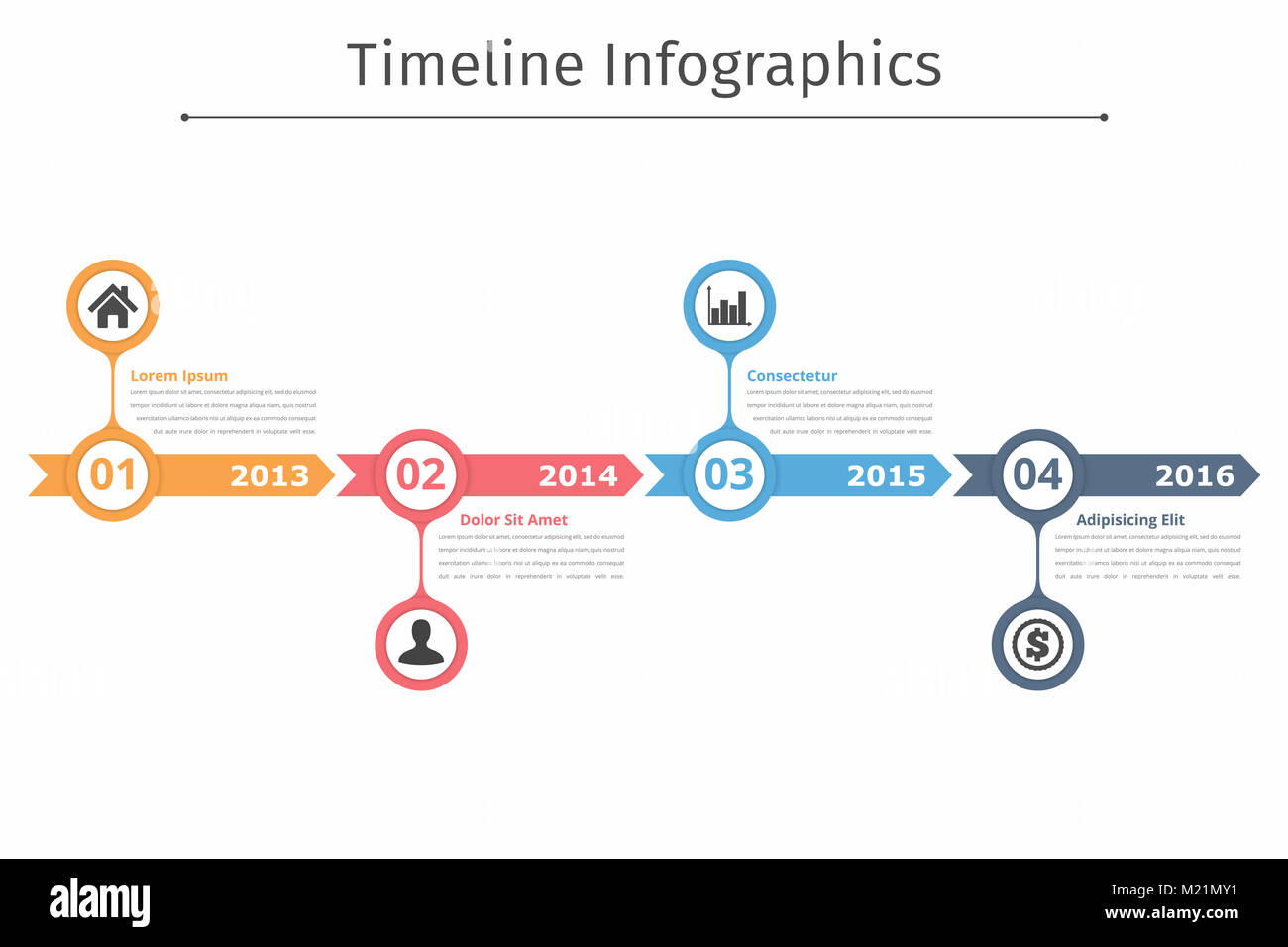 Process Flow Diagram Layout Arrow Data Schema Timeline Infographics Template With Arrows Flowchart Chart Converging Circular
