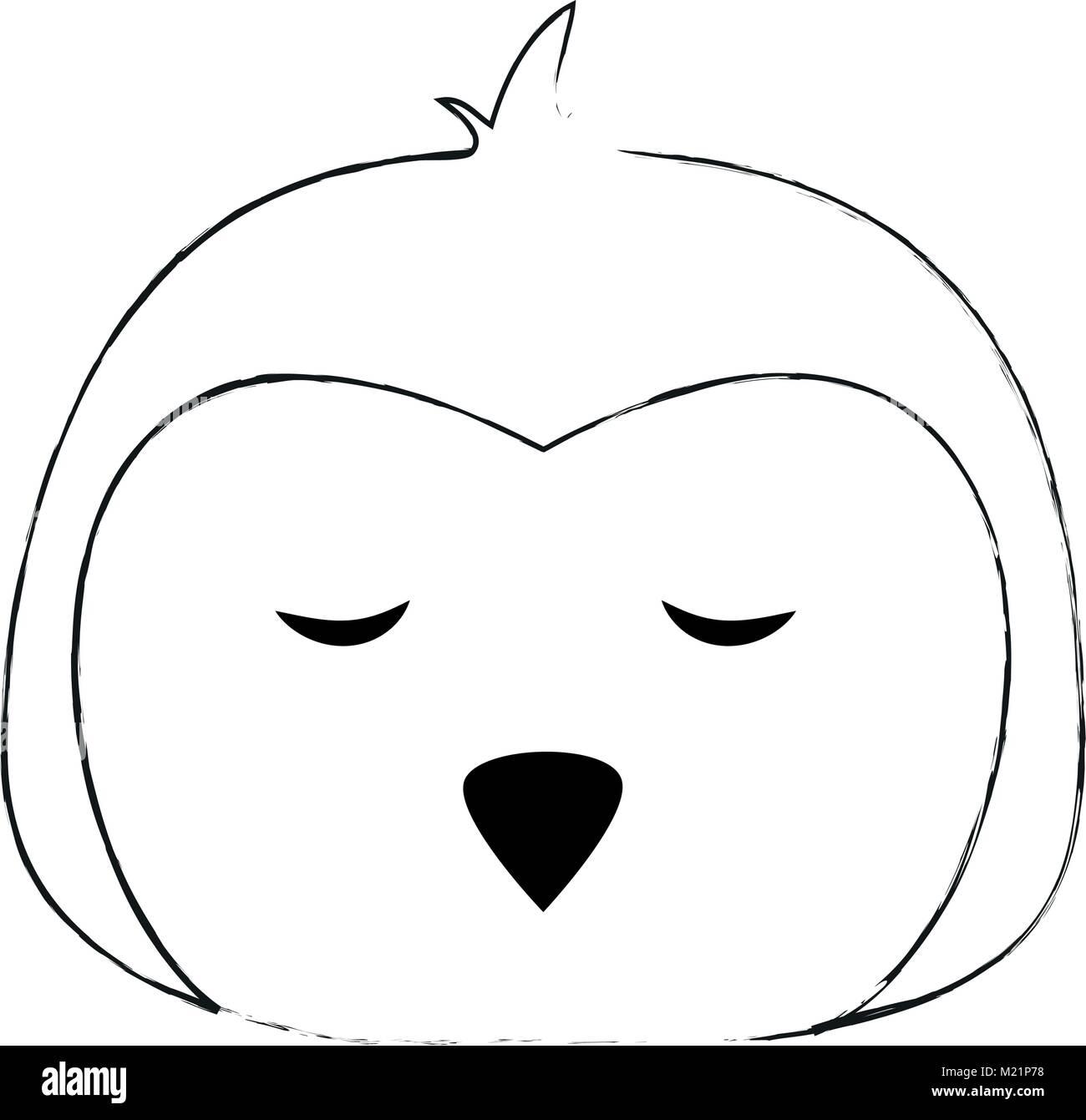 Cute penguin cartoon - Stock Image