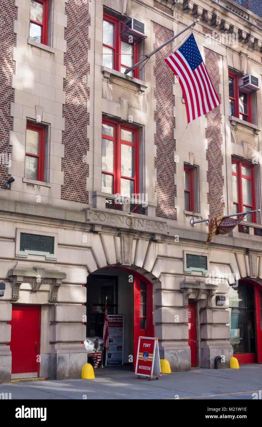 New York City Fire Museum, 278 Spring Street, New York City - Stock Image