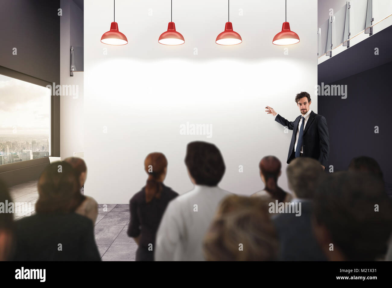 Business analysis in an office. 3D Rendering - Stock Image