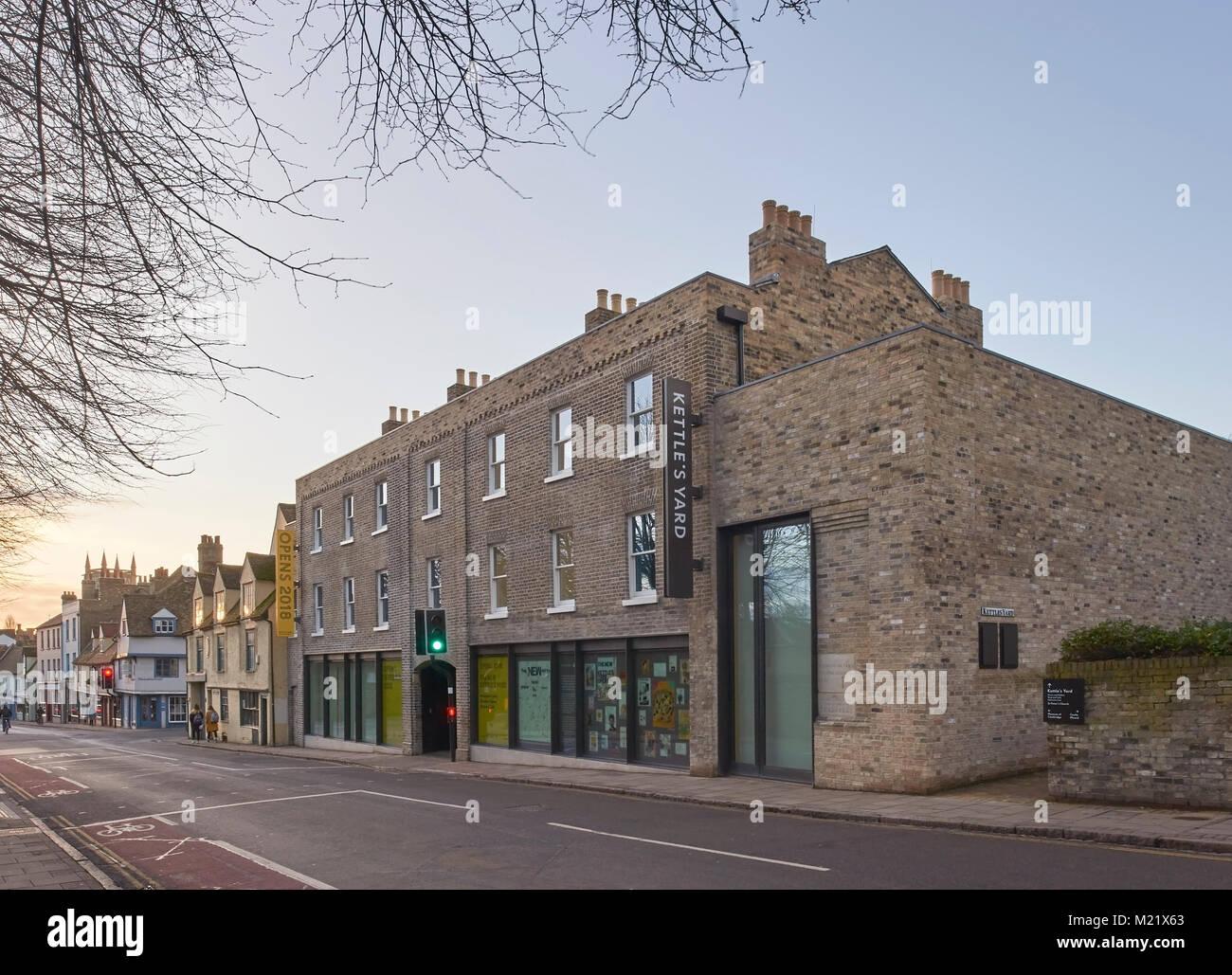 Kettle's Yard, Cambridge art gallery designed by Jamie Fobert Architects 2018 Stock Photo
