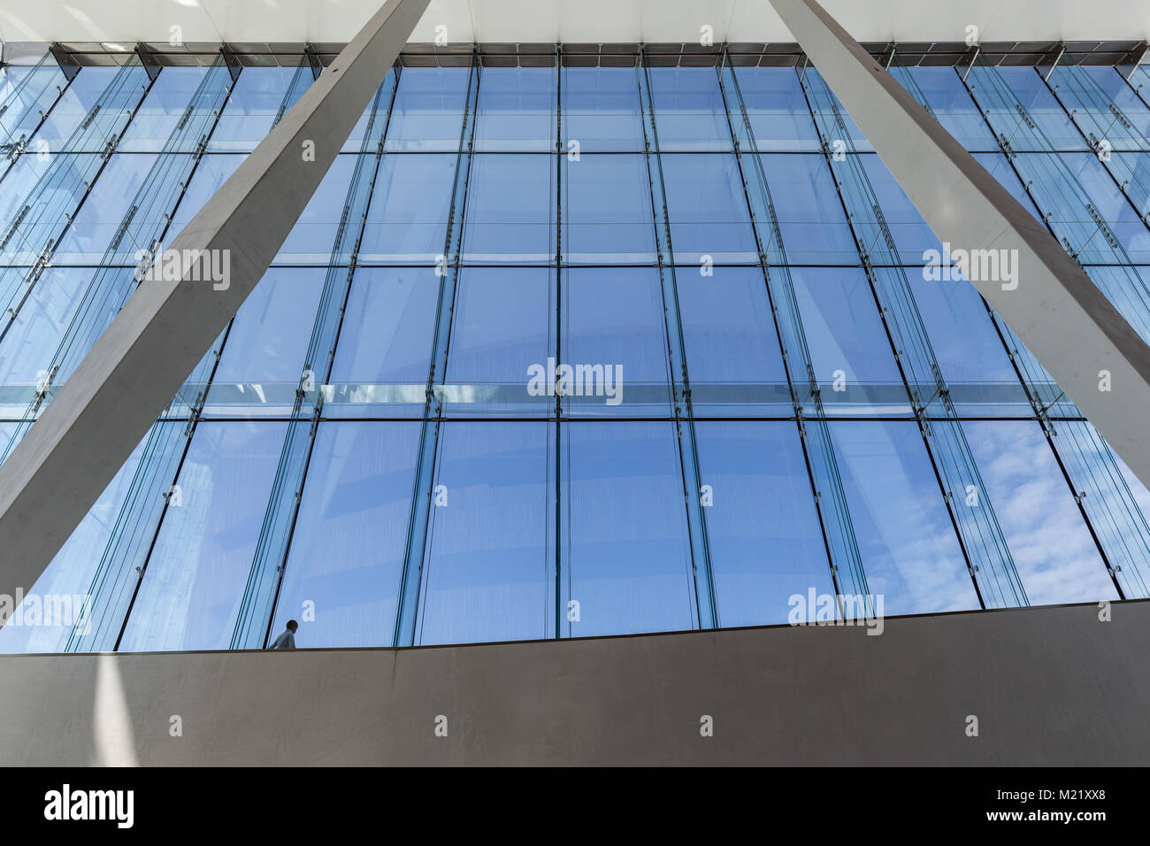 view from the high window front of the opera house in Oslo Stock Photo