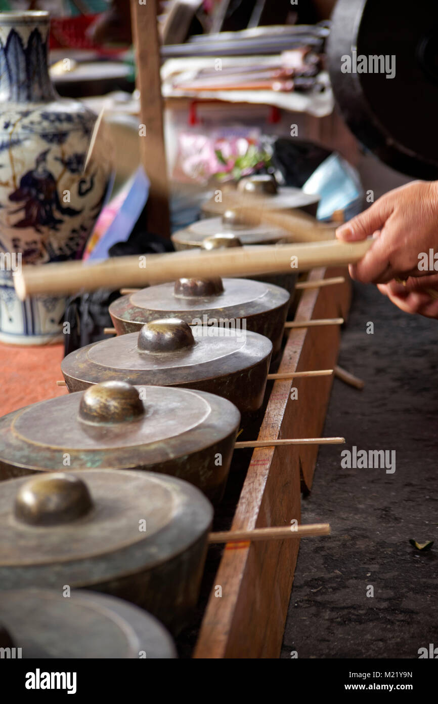 Traditional asian music from Kota Kinabalu, Borneo, Malaysia - Stock Image
