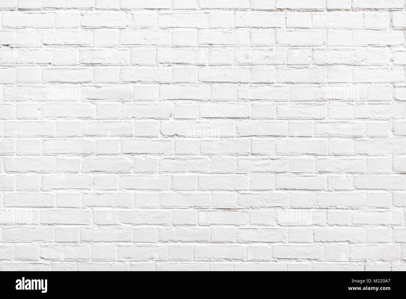 Detail of a white brick wall texture - Stock Image