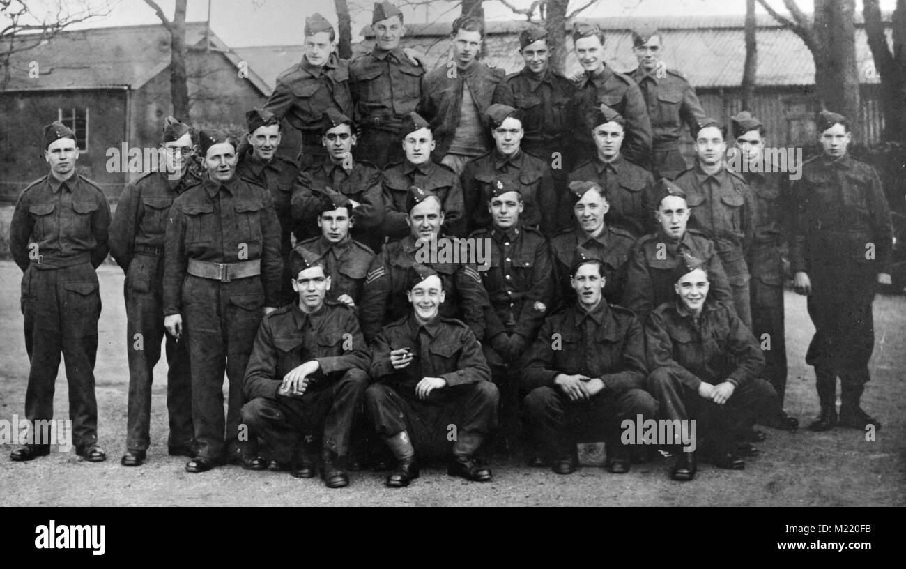 British Army, Royal Army Medical Corps, Training camp 1939 - 1940 - Stock Image