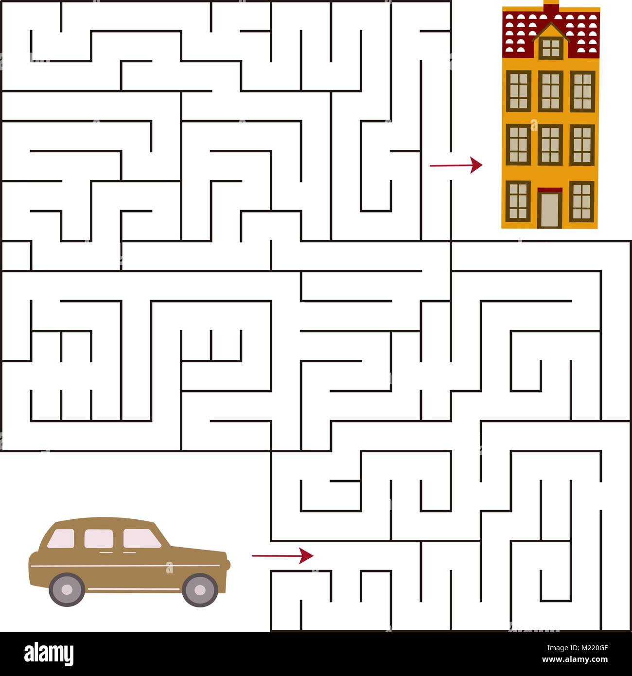 Maze game for kids . Vector template page with game Stock Vector Art ...