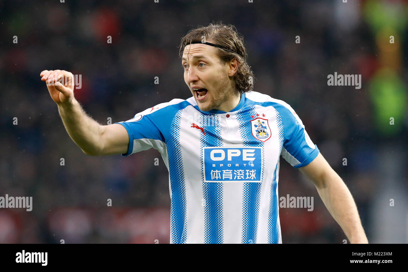 Huddersfield Town\'s Michael Hefele during the Premier League match ...