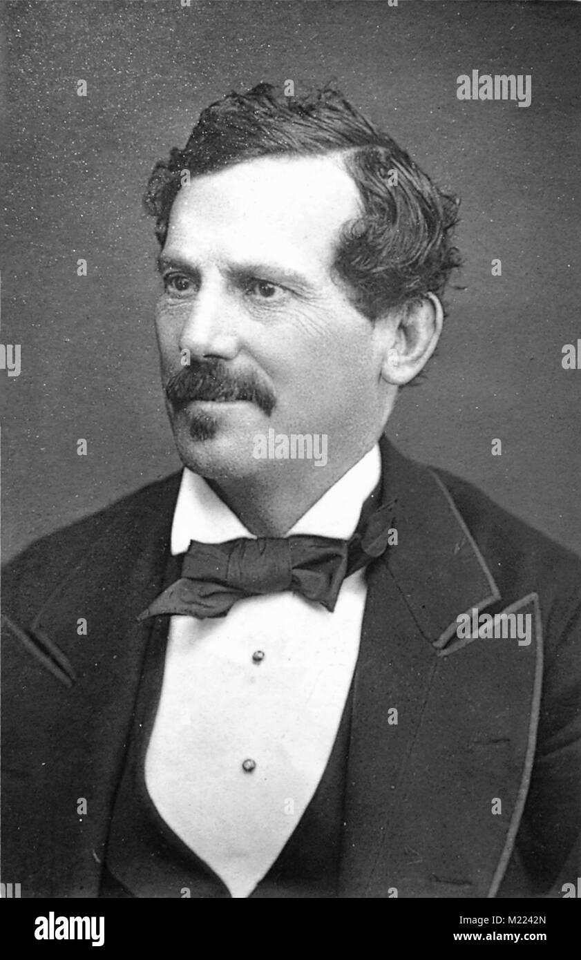 George Washington Moore (1820 – 1909) American born British music hall impresario - Stock Image