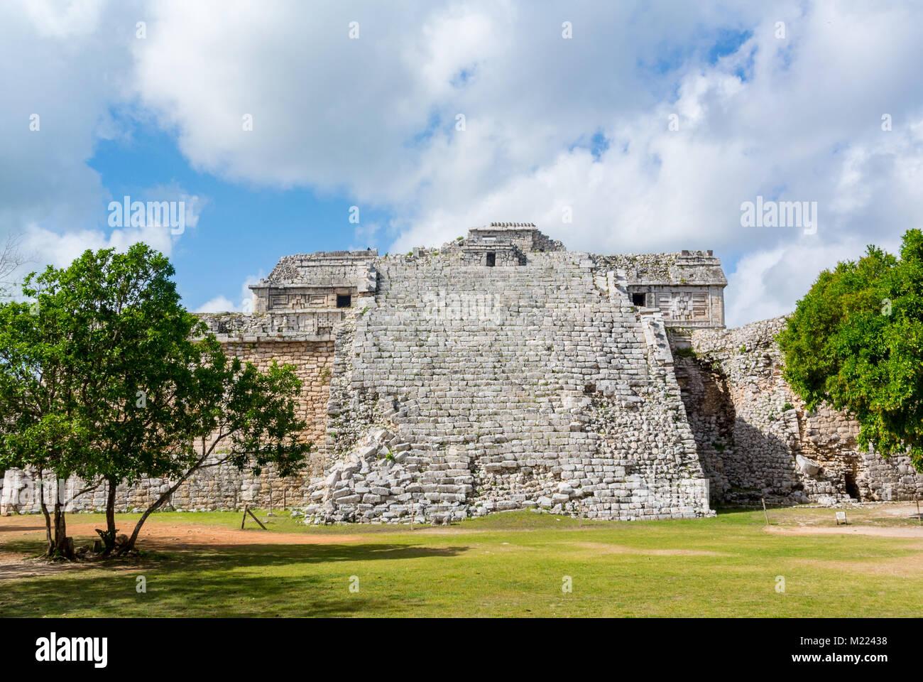 Kukulkan Temple Pyramid, Chichen Itza, Yucatan, Mexic - Stock Image