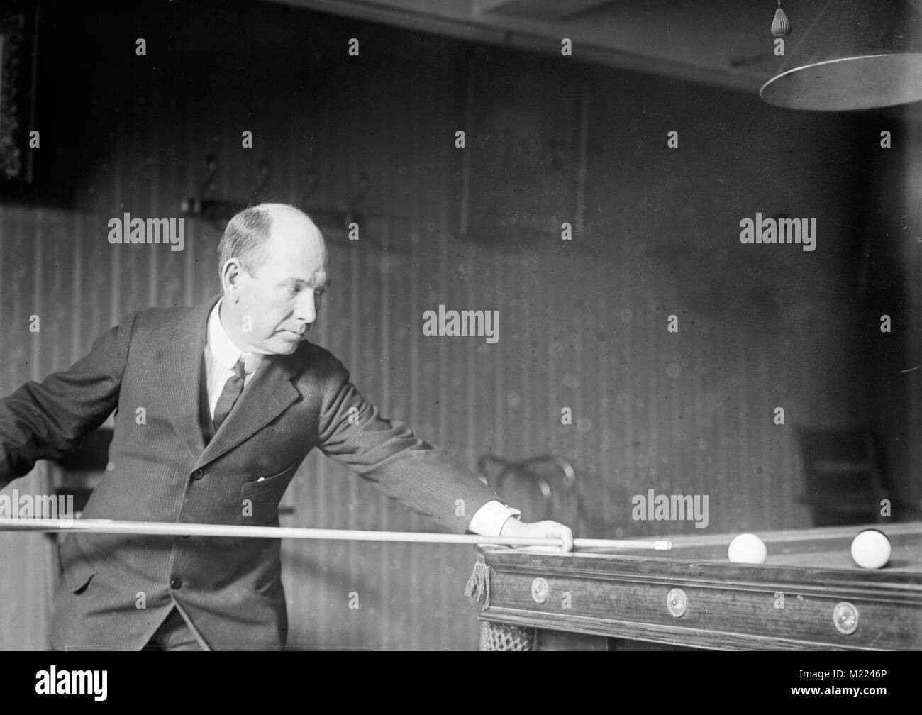 George W. Moore was a three-cushion carrom billiard champion Stock Photo