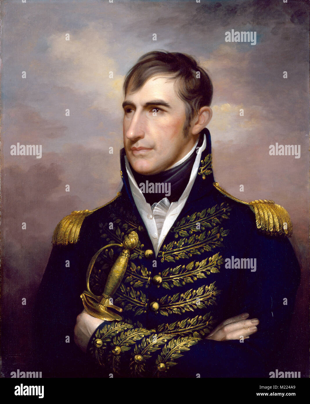 William Henry Harrison (1773 – 1841) American, ninth President of the United States - Stock Image