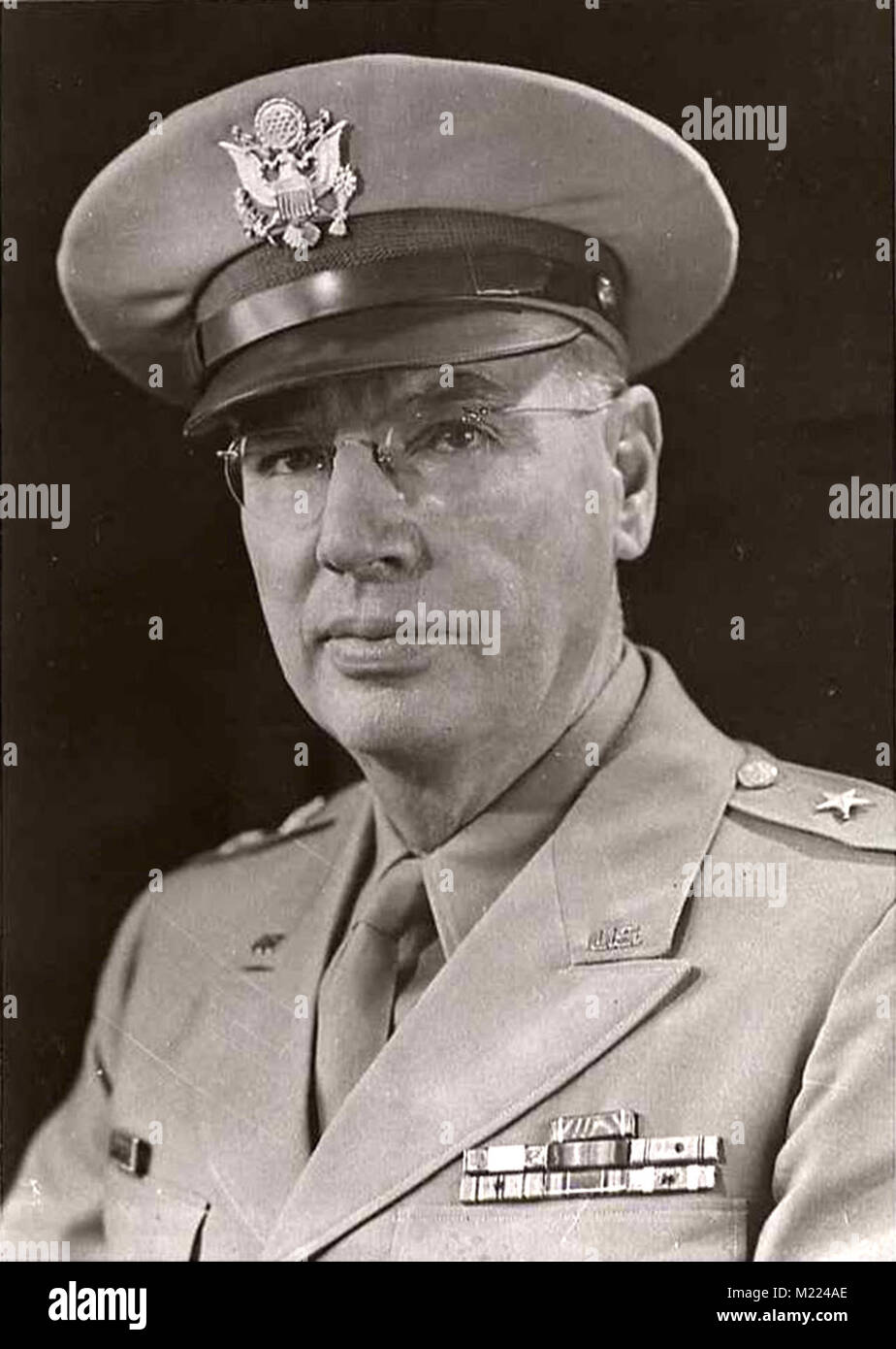 George Fleming Moore (1887 – 1949) highly decorated officer of the United States Army with the rank of major general - Stock Image