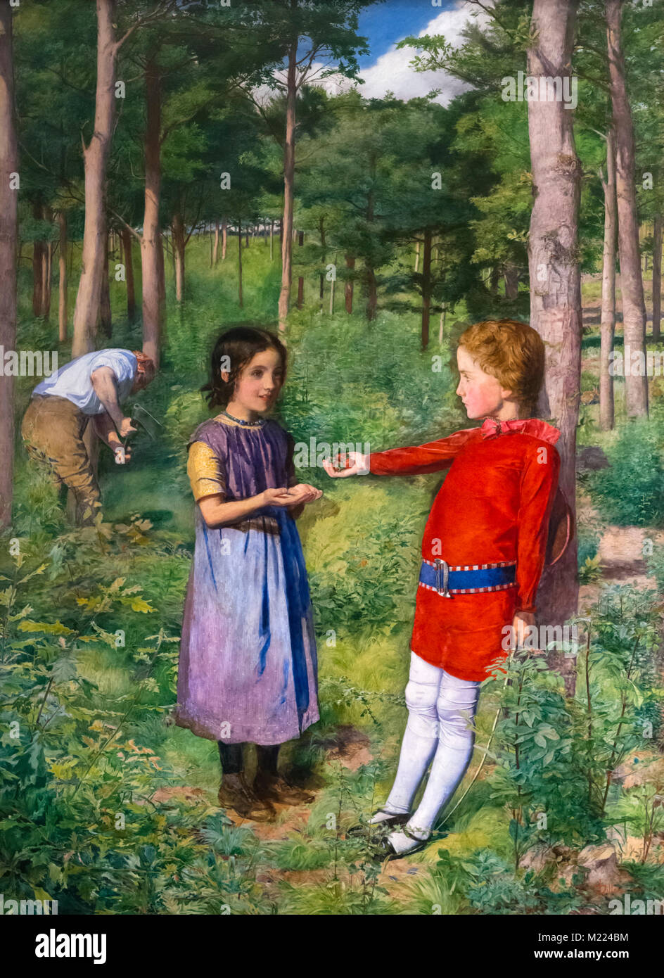 The Woodman's Daughter by John Everett Millais (1829-1896), oil on canvas, 1851 - Stock Image
