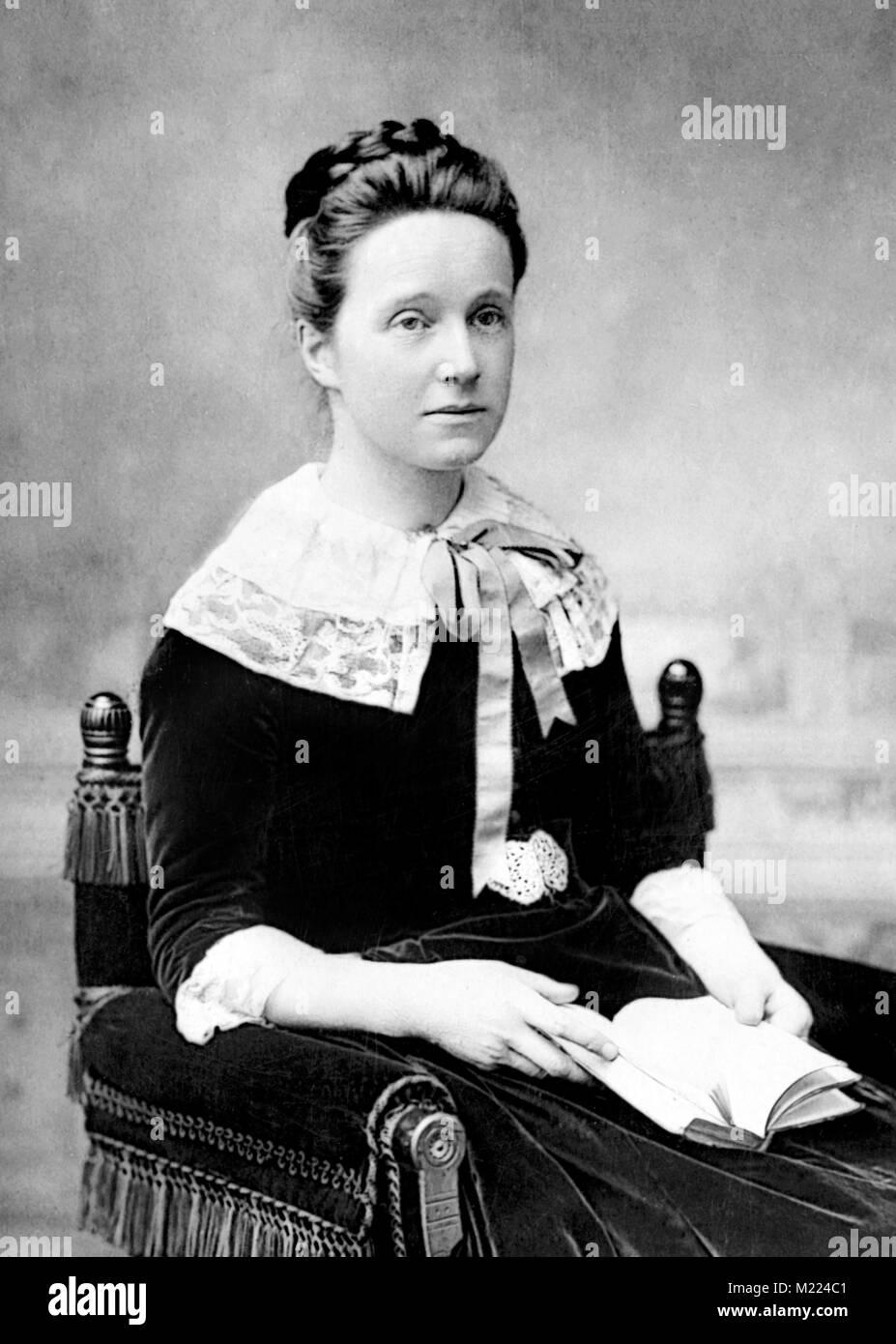 Millicent Fawcett. Portrait of the British suffragist, Dame Millicent Garrett Fawcett (1847-1929) - Stock Image