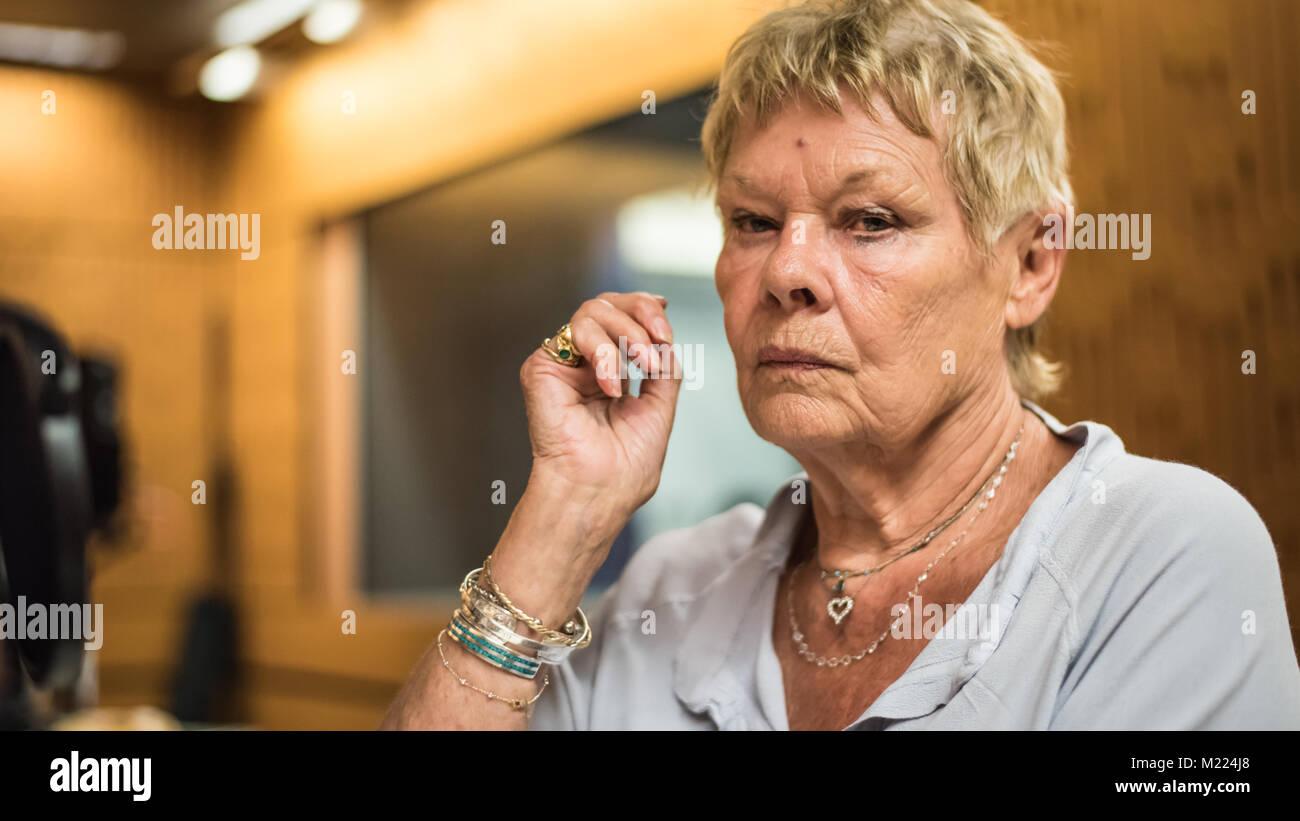 Dame Judi Dench 2015 Stock Photo