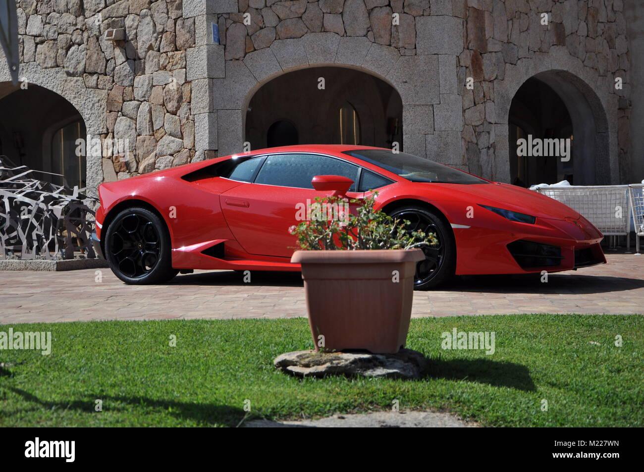 Porto Cervo, Italy - June 19, 2017: Lamborghini Huracan - Stock Image
