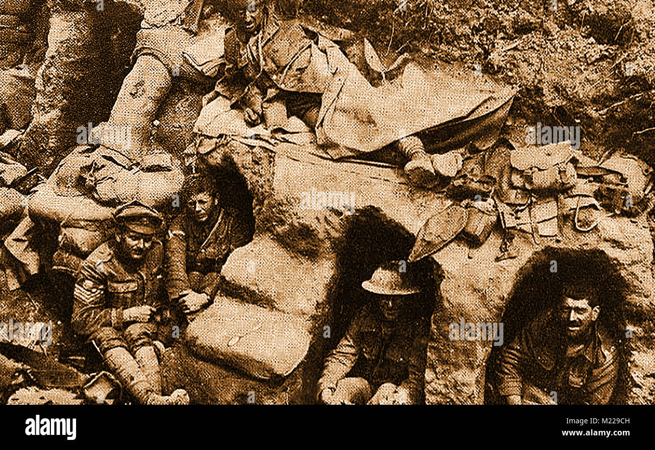 Trenches In World War One Stock Photos & Trenches In World