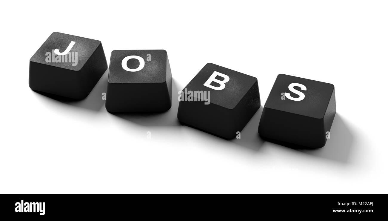 Find A Job Online Concept Jobs Written On Keyboard Keys On White Stock Photo Alamy