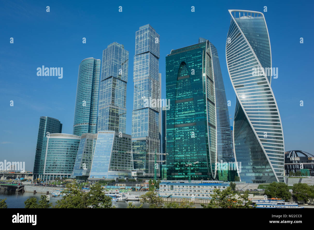 Modern Cityscape. Moscow-city, Russia. Moscow International Busi - Stock Image
