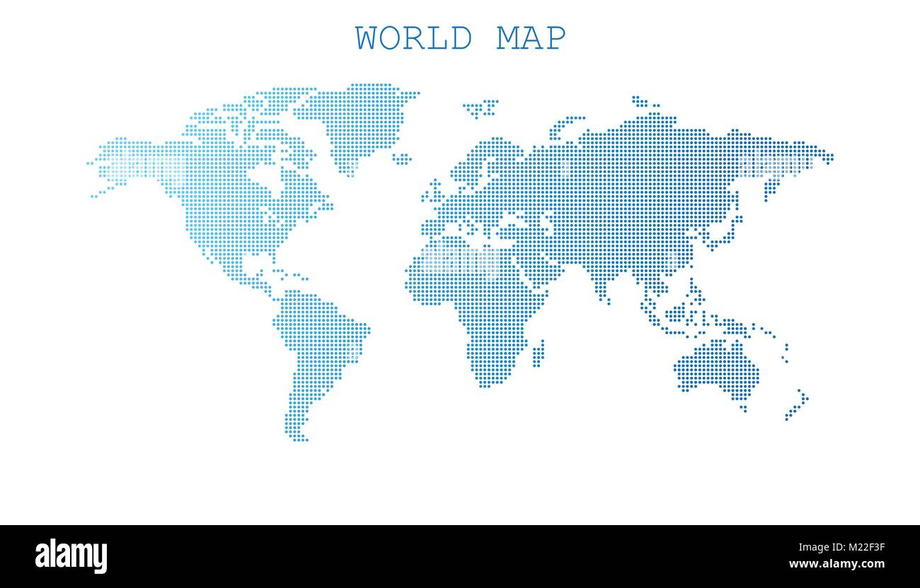 Dotted blank blue world map isolated on white background world map dotted blank blue world map isolated on white background world map vector template for website infographics design flat earth world map with round gumiabroncs Images