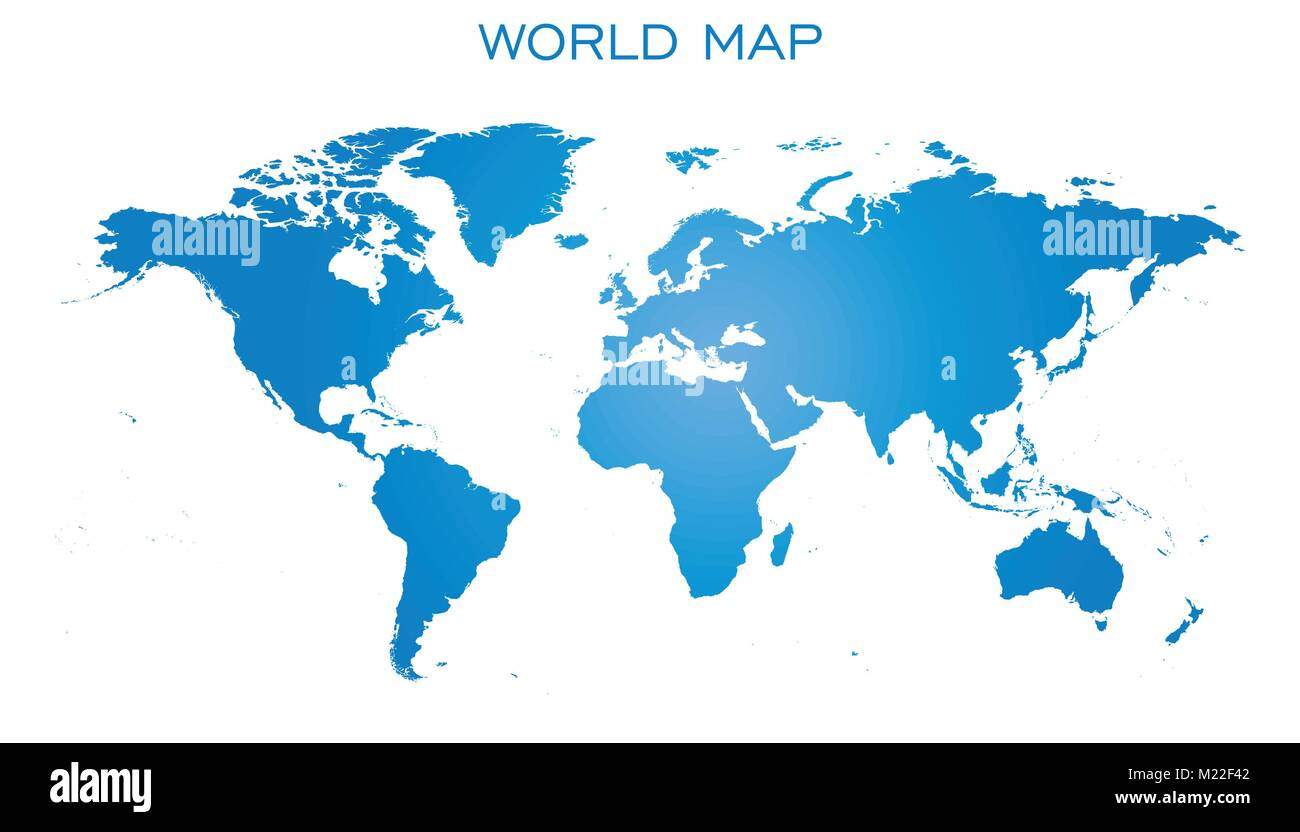 Blank blue world map isolated on white background world map vector blank blue world map isolated on white background world map vector template for website infographics design flat earth world map illustration gumiabroncs Images