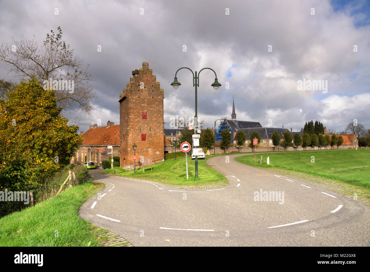 The prisoners tower in Megen - Stock Image