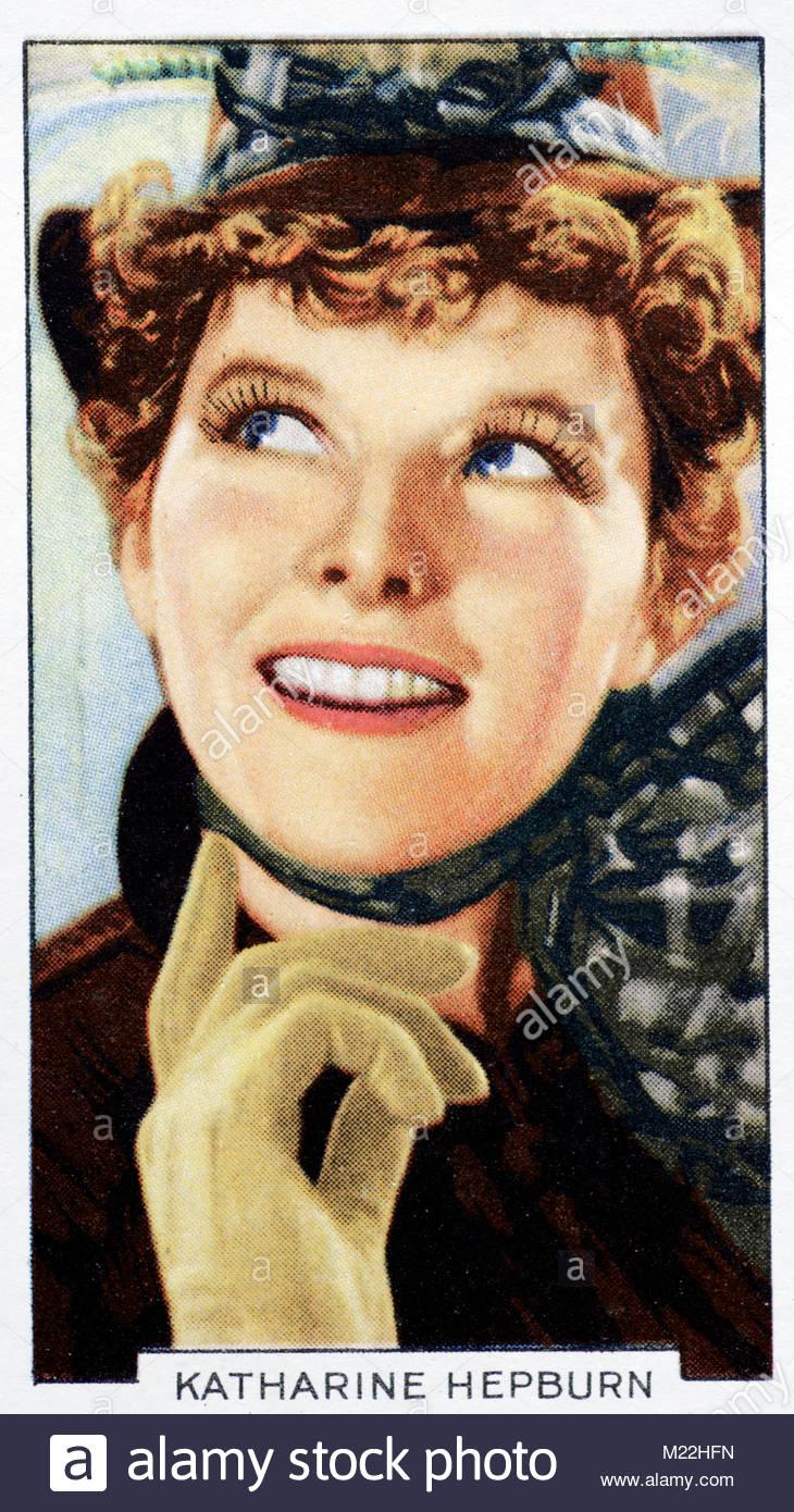 American Actress Katharine Hepburn 1907 – 2003 - Stock Image
