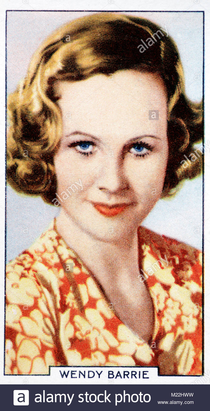 British-American Actress Wendy Barrie 1912 – 1978 - Stock Image
