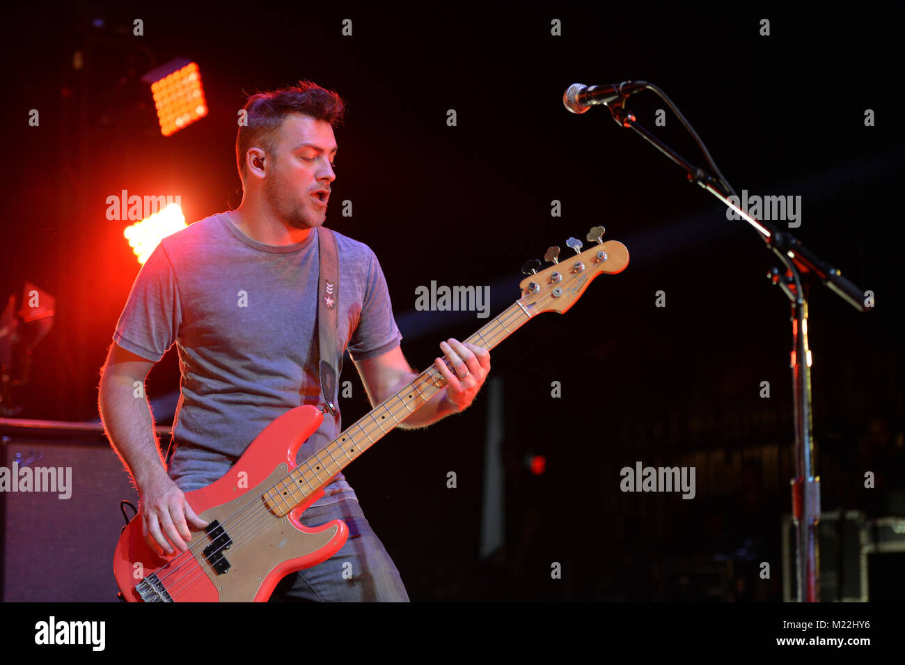 MIAMI BEACH, FL - APRIL 22: Gavin Rossdale of Bush performs at The Fillmore Miami Beach on April 22, 2016 in Miami - Stock Image
