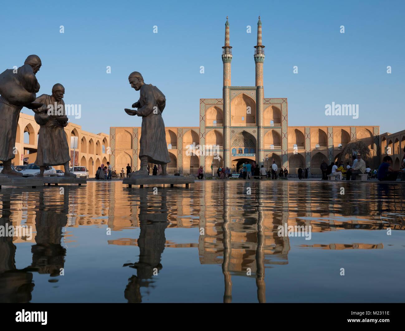 The Amir Chakhmaq Complex in Yazd, Yazd Province, Iran - Stock Image