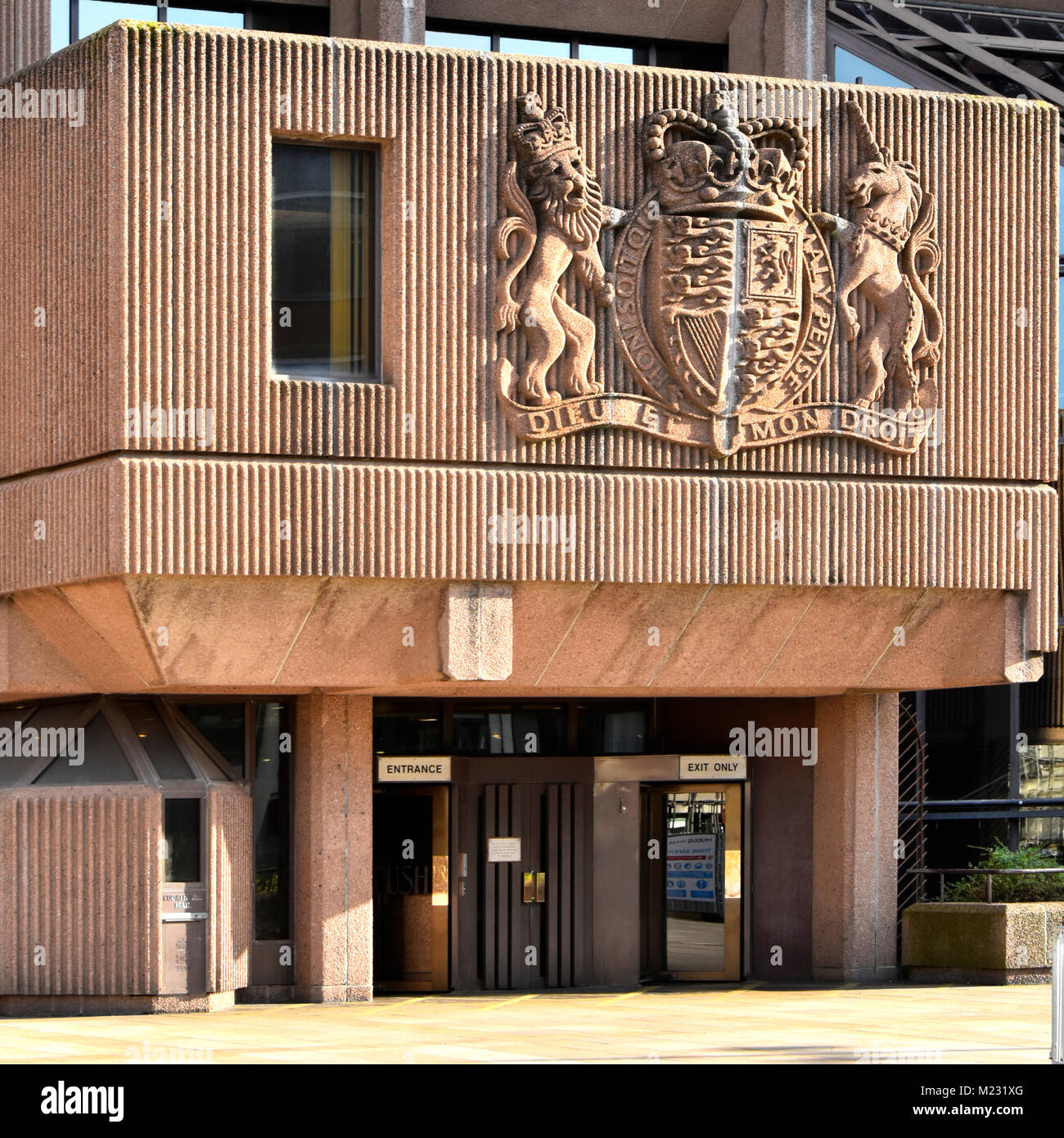 Liverpool Queen Elizabeth II Law Courts includes city Crown Court, District Probate Registry & Liverpool Youth - Stock Image