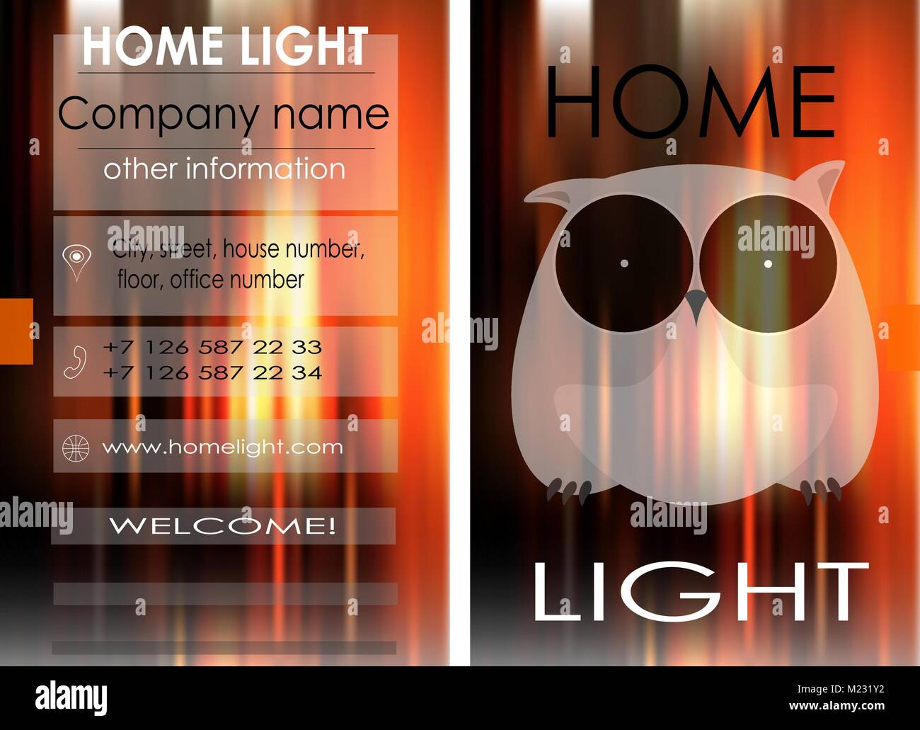 Business card design for the company home lighting business card