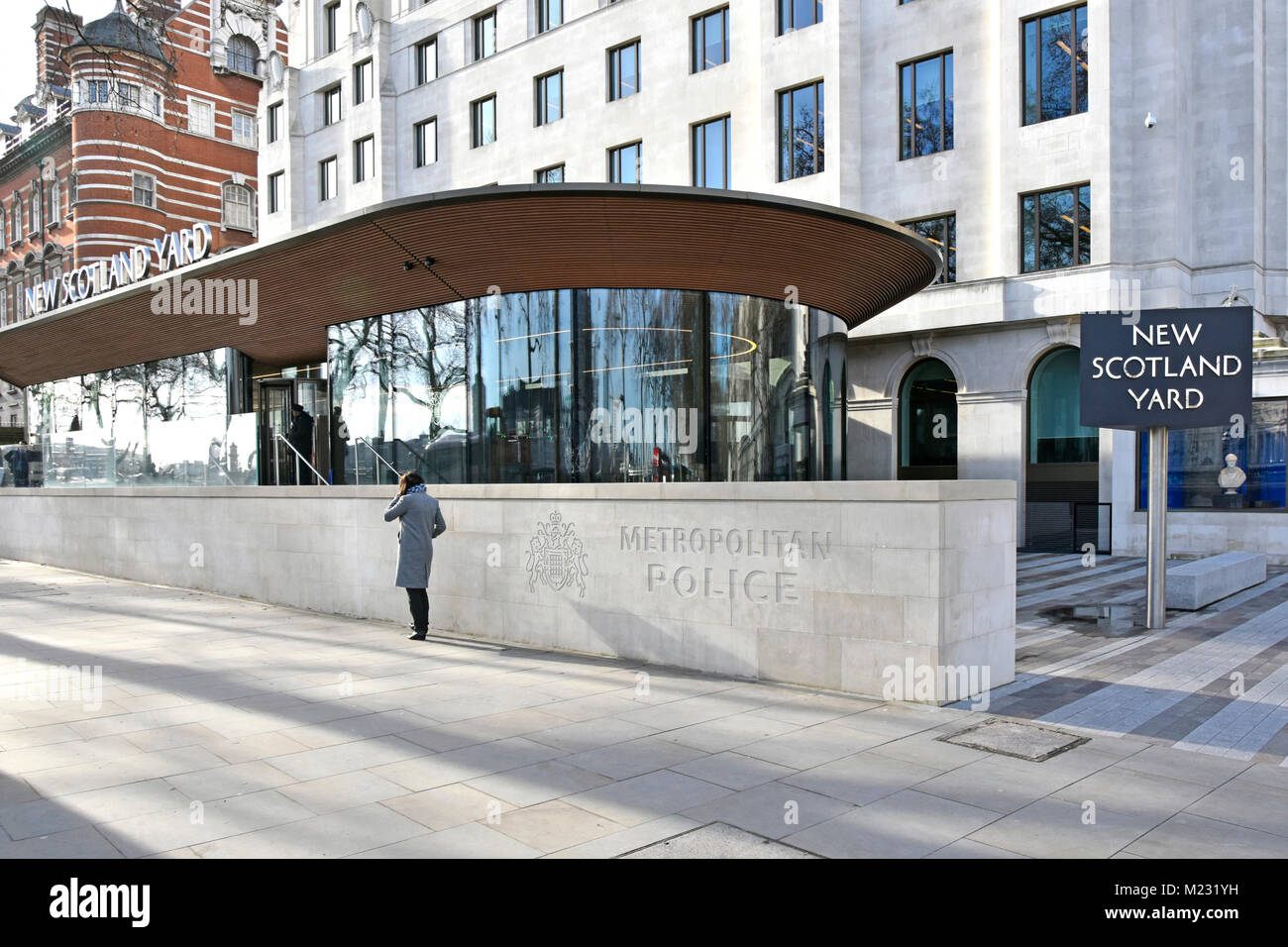 New Scotland Yard   relocated Metropolitan Police headquarters in old Curtis Green Building now refurbished & - Stock Image