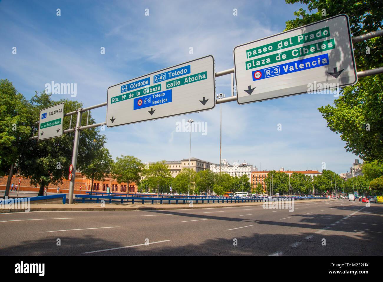 Atocha street. Madrid, Spain. Stock Photo