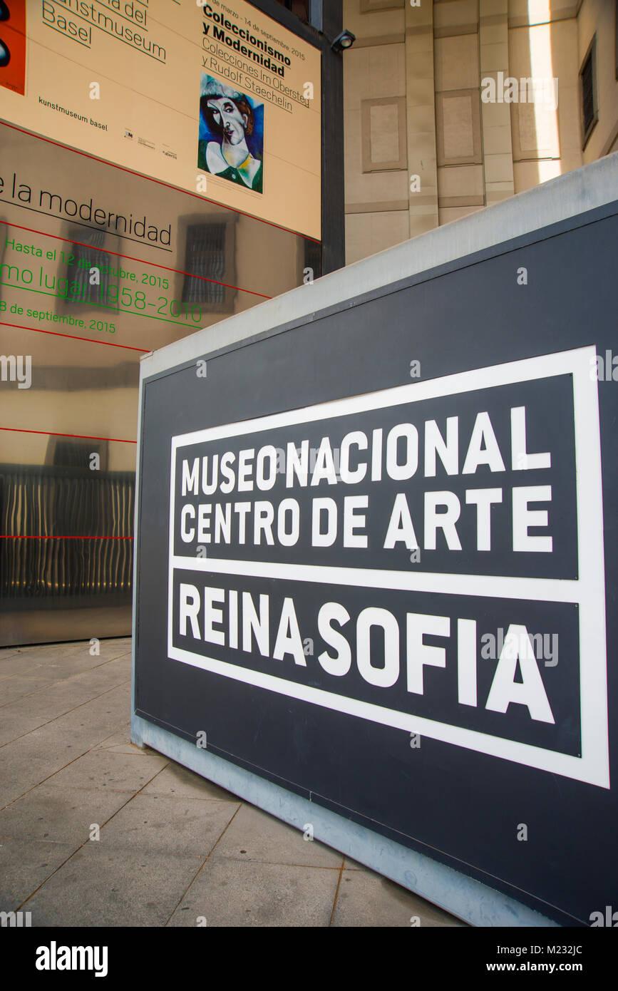 Centro de Arte Reina Sofia National Museum. Madrid, Spain. - Stock Image